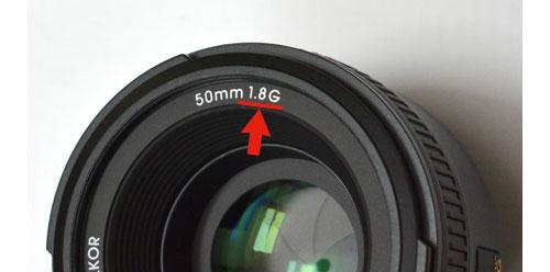 レンズ表記のF値1.8