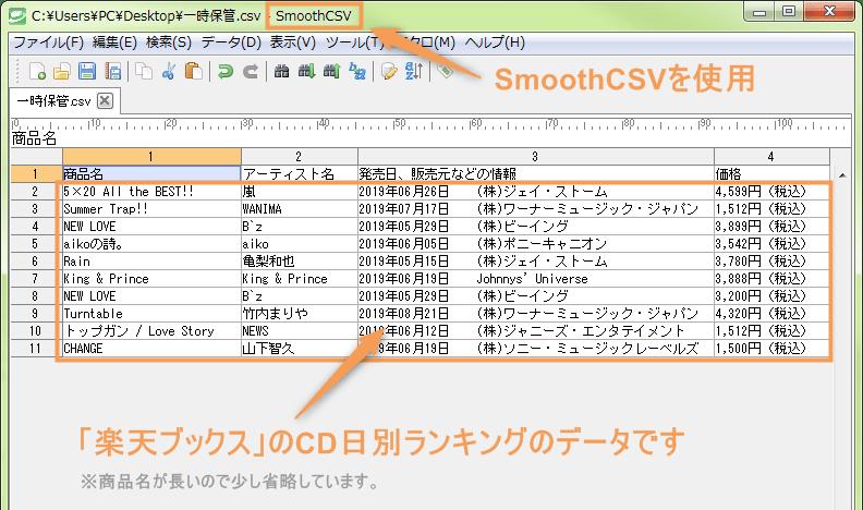 iMacrosで使用するデータソース(CSVファイル)