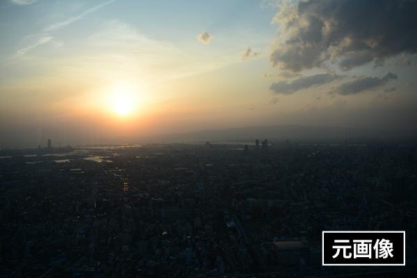 HDRなしの夕日写真