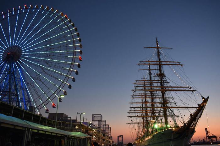 夕日写真港トワイライトタイム
