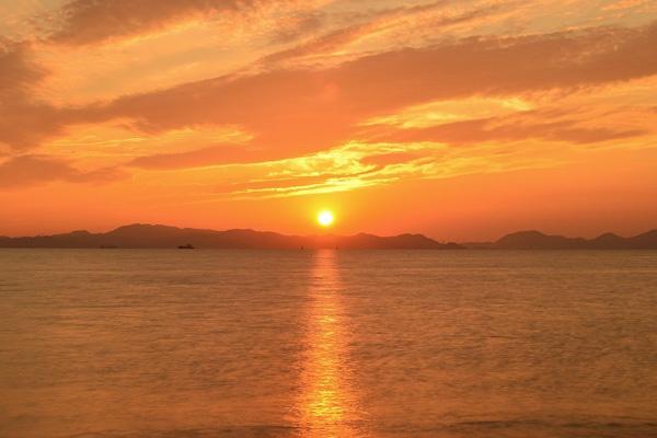夕日写真の構図