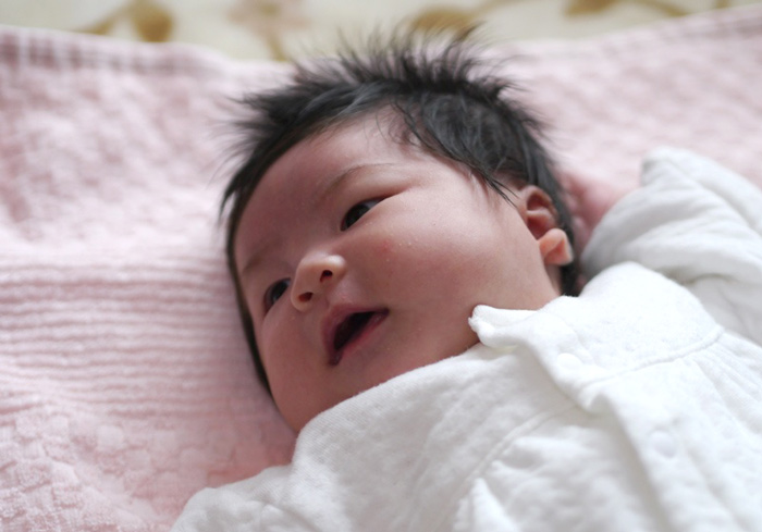 室内赤ちゃん写真