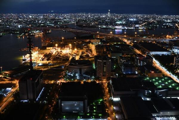南港コスモタワー夜景写真ホワイトバランス