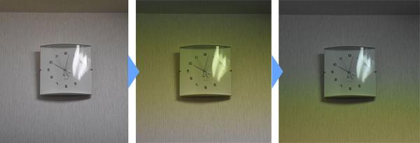 フリッカー現象室内撮影シャッタースピード1/250秒