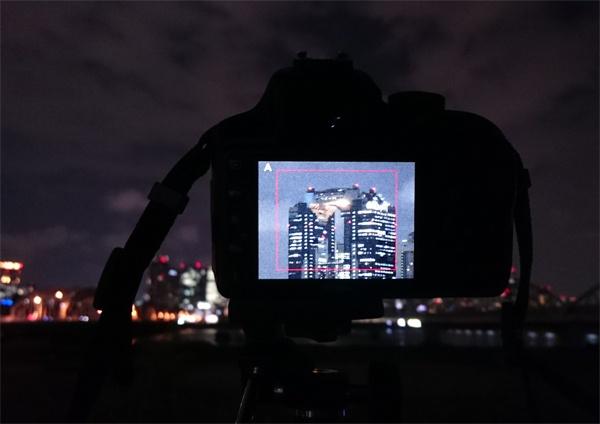夜景撮り方手順ピント合わせライブビューMF