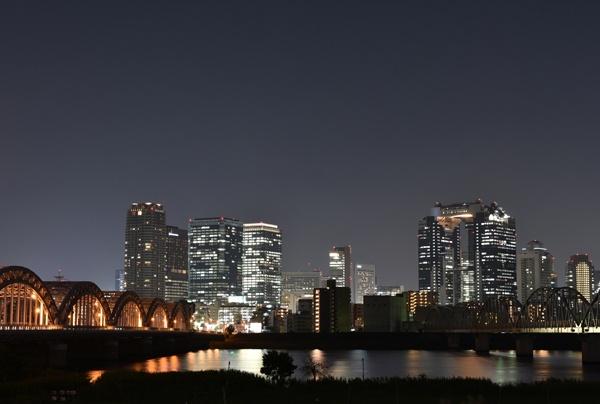 淀川夜景単焦点レンズ撮り方