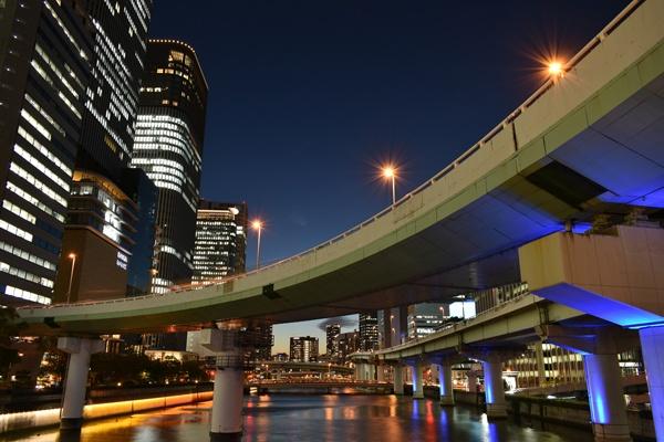 大阪中之島夜景トワイライトタイムマジックアワー