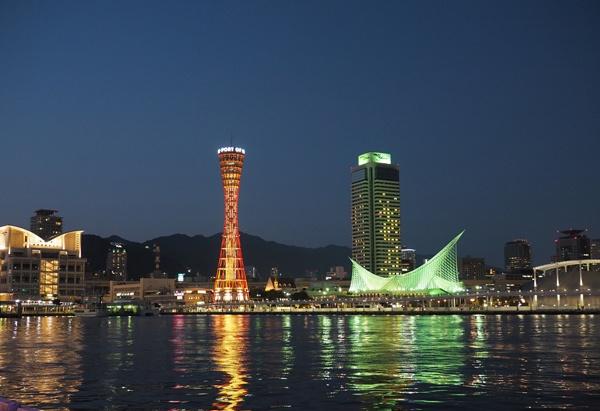 神戸タワー夜景写真
