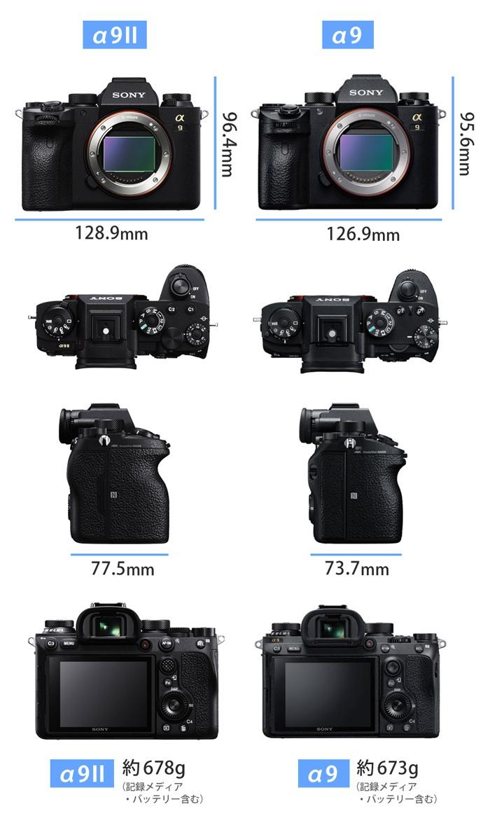 A9II-サイズ比較