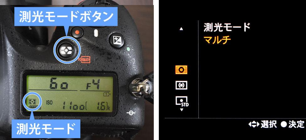測光モードボタン・メニュー