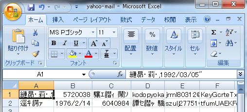ヤフーメール文字化け