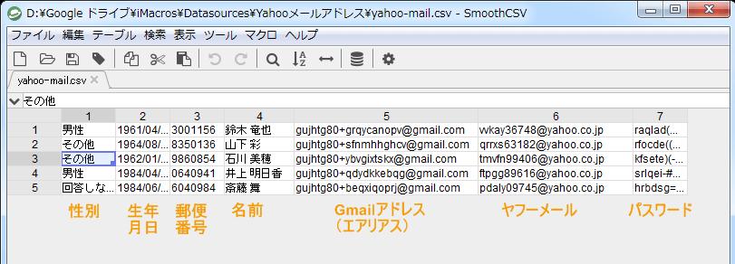 Yahooフリーメールを連続で自動作成マクロ使い方