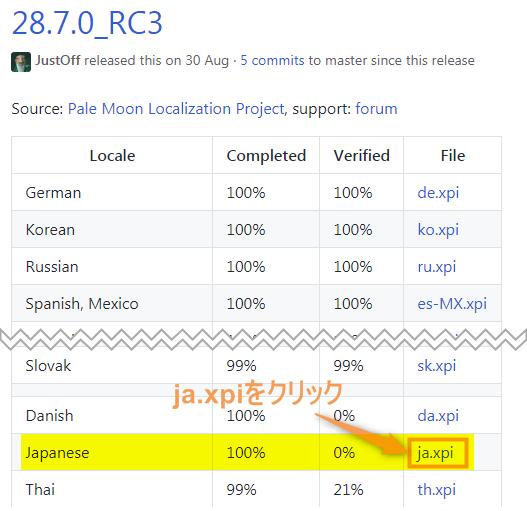 Pale Moonを日本語化手順