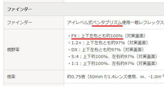 ニコンD850の視野率