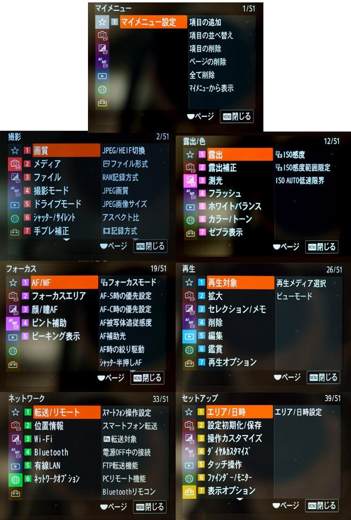 α7S IIIメニュー画面