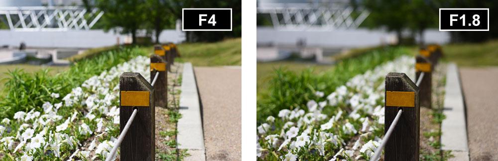 交換レンズ-F値違い