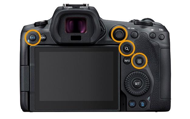 EOS R5背面ボタン