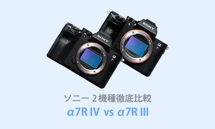 ソニーα7R IVとα7R IIIを徹底比較【体験レビュー】