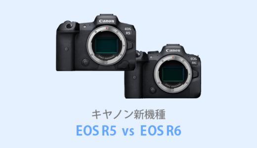 キヤノンEOS R5とEOS R6を徹底比較!【価格・スペック】