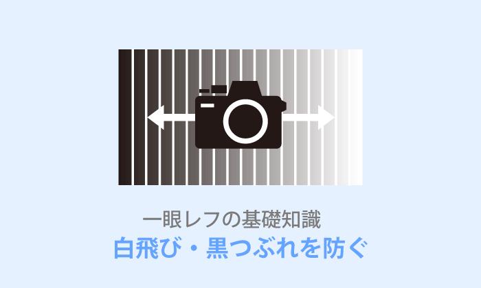一眼レフ写真の白飛び・黒つぶれしない方法とは