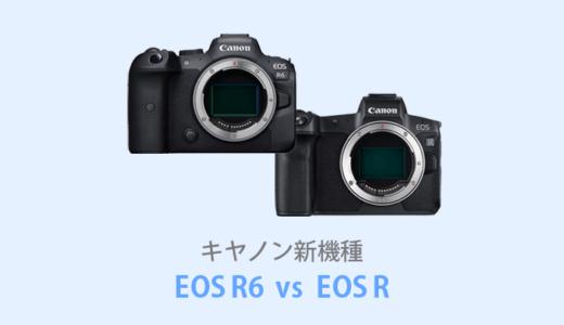 キヤノンEOS R6とEOS Rを徹底比較!【価格・スペック】