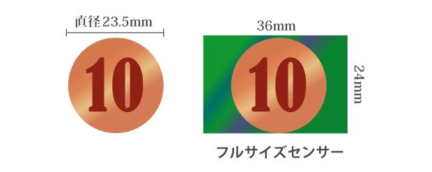 10円玉とフルサイズセンサー