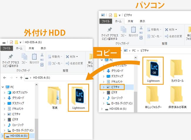 Lightroomカタログ外付けHDD移動