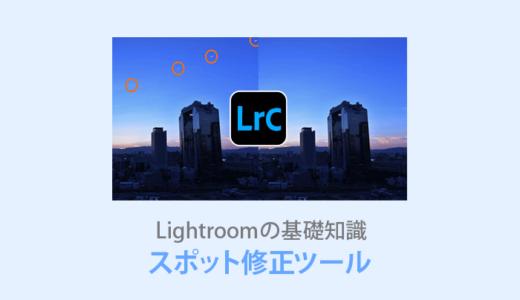 Lightroom【スポット修正の使い方】ゴミを瞬時に削除する便利機能